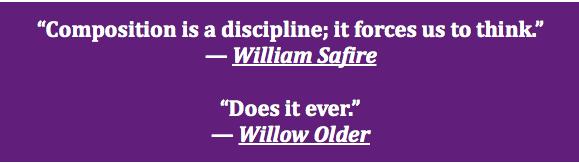 Composition discipline quote